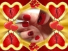 Vernis permanent rouge, water decal, strass