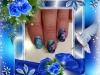 vernis permanent degrade de bleu, water decal