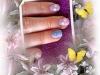 Vernis permanent lavande et bleu, tickets fleurs de printemps