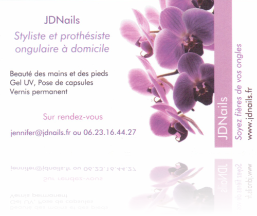JDNails.fr Carte de fidélité - Recto